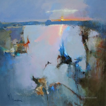Light Pool abstract seascape Oil Paintings