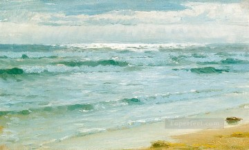 Seascape Painting - Peder Severin Kroyer Mar en Skagen seascape