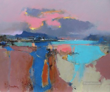 Seascape Painting - Plockton Loch Carron abstract seascape