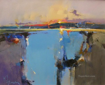Sunset over the Loch II abstract seascape Oil Paintings