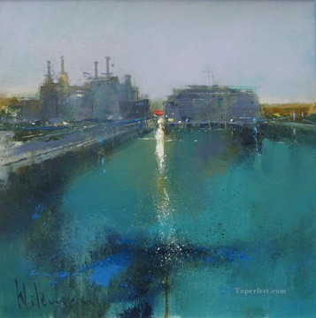 The Thames at Battersea II abstract seascape Oil Paintings