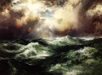 seascapes seascape Painting - Thomas Moran Moonlit Seascape