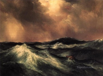 Thomas Moran The Angry Sea Ocean Waves Oil Paintings