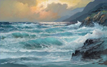 abstract seascape 024 Oil Paintings