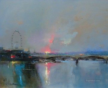London Art - summer nights london abstract seascape