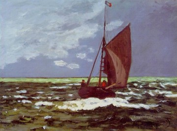 Seascape Painting - Claude Monet Stormy Seascape