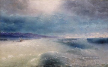 Seascape Painting - Ivan Aivazovsky after the storm Seascape