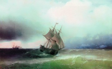 Seascape Painting - Ivan Aivazovsky approximation of the storm Seascape