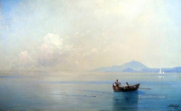 landscape Painting - Ivan Aivazovsky calm sea landscape with fishermen Seascape