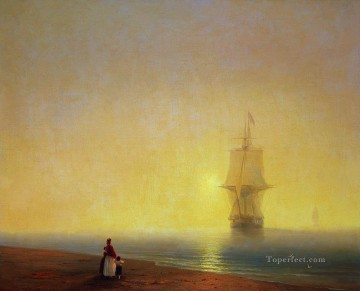 Seascape Painting - Ivan Aivazovsky farewell morning at sea Seascape
