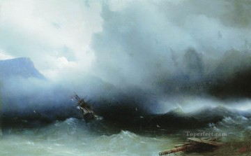 Ivan Aivazovsky hurricane at the sea Seascape Oil Paintings