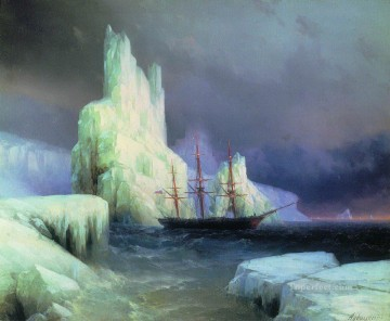 Seascape Painting - Ivan Aivazovsky icebergs in the atlantic Seascape