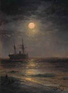 Seascape Painting - Ivan Aivazovsky lunar night 1899 Seascape