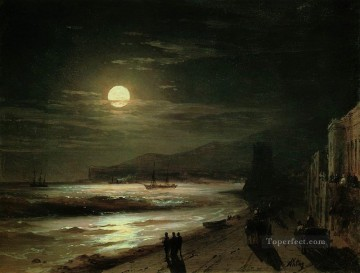 Seascape Painting - Ivan Aivazovsky moon night Seascape