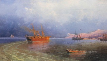 Ivan Aivazovsky near coast of yalta Seascape Oil Paintings