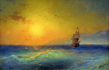Ivan Aivazovsky near crimean coast Seascape Oil Paintings