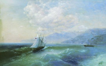 Seascape Painting - Ivan Aivazovsky on the coast Seascape