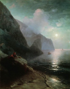 Ivan Aivazovsky pushkin in gurzuf Seascape Oil Paintings
