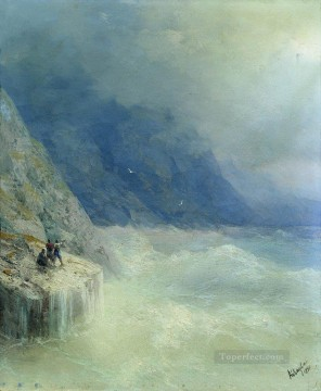 Seascape Painting - Ivan Aivazovsky rocks in the mist Seascape