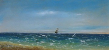 Ivan Aivazovsky sailing in the sea Seascape Oil Paintings