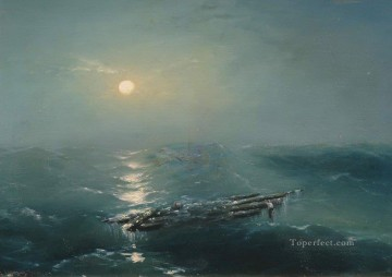 Seascape Painting - Ivan Aivazovsky sea at night Seascape