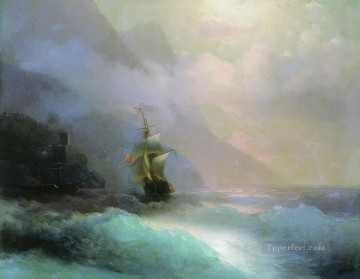 seascape mediterranean sea venice boat ship waterscape Painting - Ivan Aivazovsky seascape 2 Seascape