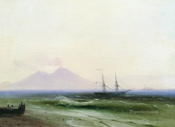seascape mediterranean sea venice boat ship waterscape Painting - Ivan Aivazovsky seascape 3 Seascape