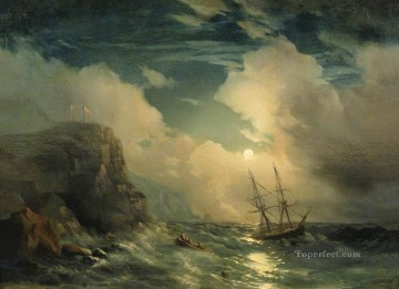 Ivan Aivazovsky seascape rock Oil Paintings