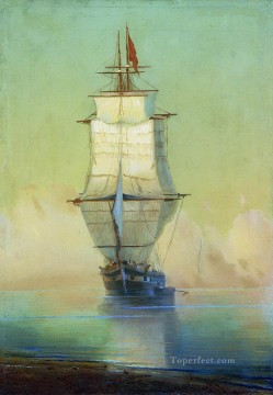 Seascape Painting - Ivan Aivazovsky ship on peace Seascape