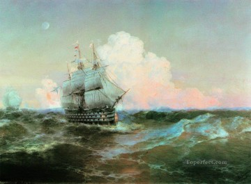 post impressionist Painting - Ivan Aivazovsky ship twelve apostles Seascape