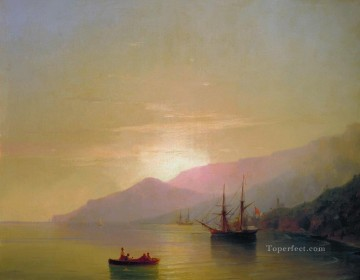 Seascape Painting - Ivan Aivazovsky ships at anchor Seascape