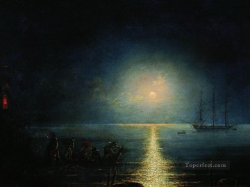Ivan Aivazovsky smugglers Seascape Oil Paintings