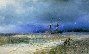 1895 Oil Painting - Ivan Aivazovsky surf 1895 Seascape