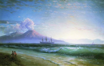 Naples Canvas - Ivan Aivazovsky the bay of naples early in the morning Seascape