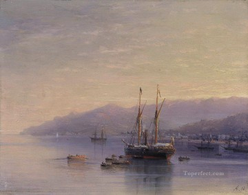 Ivan Aivazovsky the bay of yalta Seascape Oil Paintings
