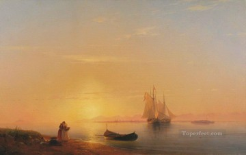 Ivan Aivazovsky the shores of dalmatia 1848 Seascape Oil Paintings