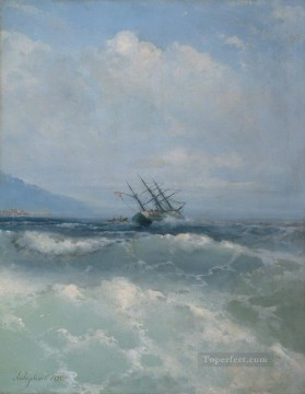 Artworks in 150 Subjects Painting - Ivan Aivazovsky the waves Seascape