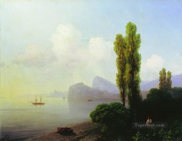 Ivan Aivazovsky view of sudak bay Seascape Oil Paintings