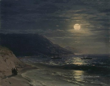 Seascape Painting - Ivan Aivazovsky yalta the mountains at night Seascape