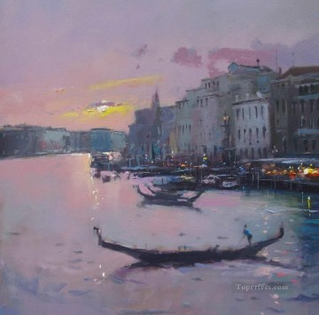 Seascape Painting - The Grand Canal Venice abstract seascape