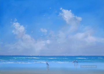 Seascape Painting - beach time abstract seascape