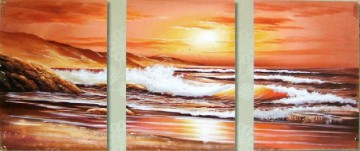 agp0722 triptych seascape Oil Paintings