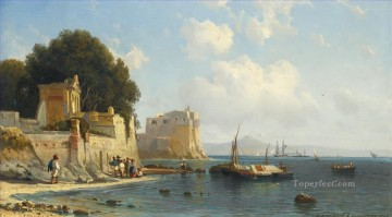COASTLINE NEAR SORRENTO Alexey Bogolyubov seascape Oil Paintings