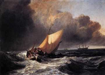 Seascape Painting - Turner Dutch Boats in a Gale seascape