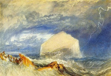 Vinci Oil Painting - Turner The Bass Rock for The Provincial Antiquities of Scotland seascape