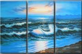agp129 panel group seascape triptych