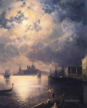 Ivan Aivazovsky byron in venice Seascape Oil Paintings