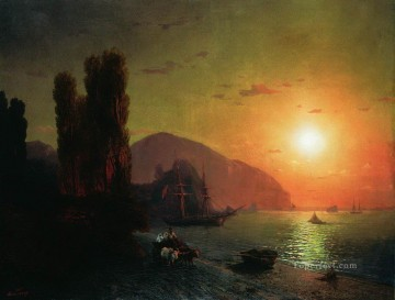 Ivan Aivazovsky crimean view ayu dag Seascape Oil Paintings