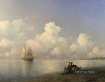 Ivan Aivazovsky evening at sea 1871 Seascape Oil Paintings