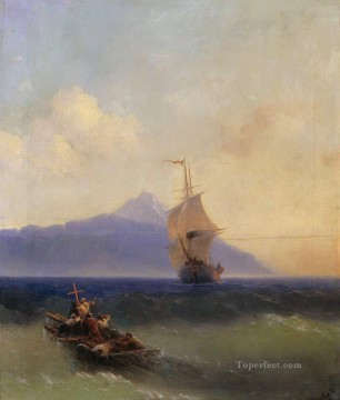 Seascape Painting - Ivan Aivazovsky evening at sea Seascape